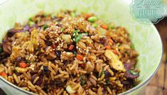 The BEST Pineapple Fried Rice on a Pineapple Bowl Recipe & Video - Seonkyoung Longest Spicy Fried Rice Recipe, Fried Rice Recipe Video, Riblets Recipe, Bulgogi Recipe, Curry Recipes, Rice Recipes, Seafood Recipes, Asian Recipes