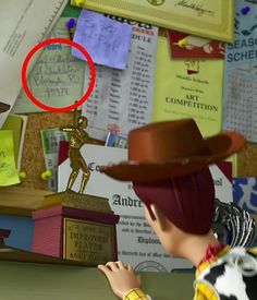 Carl and Ellie's (Characters from Up) address is on Toy Story!