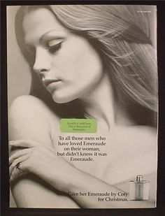 Magazine Ad For Coty Emeraude Perfume Fragrance, Scratch & Sniff Pad, 1972, 8 1/4 by 11 1/8