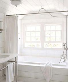 Home Decoration Ideas Easy .Home Decoration Ideas Easy Bathroom Renos, White Bathroom, Modern Bathroom, White Shower, Light Bathroom, Shiplap Bathroom, Downstairs Bathroom, Bathroom Interior Design, Home Interior