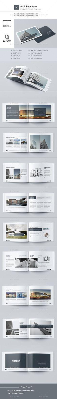 Modern Architecture Brochure 24 Pages & — InDesign INDD - Graphic Templates Search Engine Web Design, Layout Design, Portfolio Design, Beau Cv, Architecture Design, Resume Architecture, Architecture Panel, Booklet Design, Grafik Design