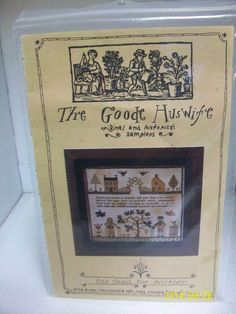 "THE GOODE HUSWIFE COUNTED CROSS STITCH CHART ""ONE SEED FOR ANOTHER"" PATTERN #TheGoodeHuswife"