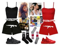 A fashion look from January 2016 featuring crop tops, cami crop top and vintage shorts. Browse and shop related looks. Cute Lazy Outfits, Twin Outfits, Swag Outfits For Girls, Cute Swag Outfits, Teenage Girl Outfits, Girls Fashion Clothes, Teen Fashion Outfits, Teenager Outfits, Girly Outfits