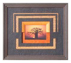 Baobab réalisé par Régine en 2012Biseau français orange interrompu, sur une…