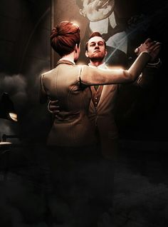 Bioshock Infinite, Robert and Rosalind Lutece Bioshock Game, Bioshock Series, Video Game Art, Video Games, Irrational Games, City Of Columbia, Lets Play A Game, Bioshock Infinite, Nerd Art