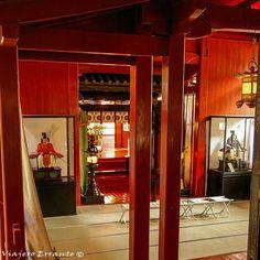 Interior del santuario Futara San, Nikko. Japón.