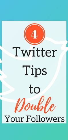 Use these 4 Twitter tips to increase your followers and get more readers to your website or blog. Their easy and fast, so go ahead and get started right now.
