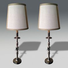 Silver Plated Table Lamps - Stock - Christopher Jones Antiques - London - Decorative Antiques