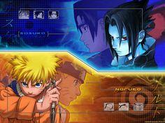 Naruto Nine-Tailed vs Sasuke Curse Marked!! Naruto Ultimate Ninja (PS2 G...