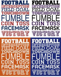 Great Football Prints
