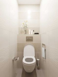 Small Toilet Design, Small Toilet Room, Bathroom Layout, Modern Bathroom Design, Bathroom Interior Design, Small Bathroom, Bathroom Bidet, Downstairs Bathroom, White Bathroom