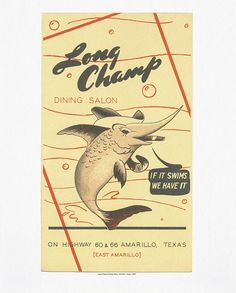 Long Champ Dining Salon (Texas, 1948)