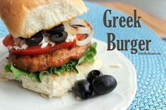 Greek Burger with Tre Stelle Feta Cheese #burger More