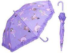 Children?s Light Purple Umbrella with Ballerinas ? Kids Umbrellas