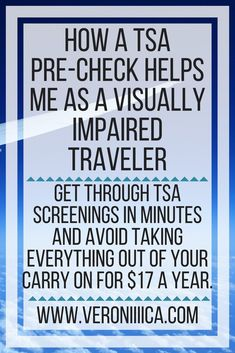 How a TSA Pre-Check helps me as a visually impaired traveler. Get through TSA screenings in minutes and avoid taking everything out of your carry on for $17 a year. Special Needs Resources, Special Needs Mom, Disability Help, Oppositional Defiant Disorder, Chronic Pain, Chronic Illness, Sensory Processing Disorder, Health Resources, Behavioral Therapy