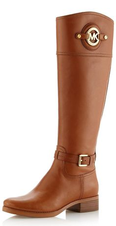 MK Stockard Leather Riding Boot ♥✤ | KeepSmiling | BeStayBeautiful - These are to die for! #love these. ;)