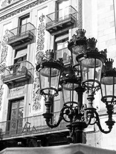 """Barcelona Street Lamps"" Art Print by Scumbagsam on Society6."