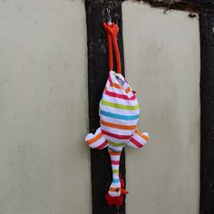 Chicken Plastic Bag Holder | Chickens Hanging Plastic Carrier Multi Stripes
