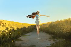 Art by Shin jong hun Love Illustration, Digital Illustration, Mode Poster, Fantasy Landscape, Art Challenge, Anime Scenery, Art Sketchbook, Anime Art Girl, Cartoon Art