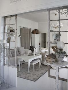 sigh....  Room divider made of old windows