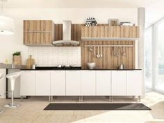 Cozinha Completa Líder Casa Aroma com Balcão - 3 Portas com as melhores condições você encontra no Magazine Abrycred. Confira!