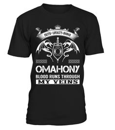 OMAHONY Blood Runs Through My Veins  #mamagift #oma #photo #image #idea #shirt #tzl #gift #eumama