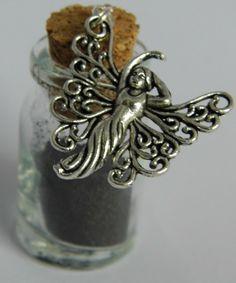Black fairy dust bottle necklace £8.00