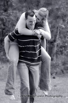 Colorado Springs black and white fun engagement portraits in black and white by Black Forest Photography http://www.blackforestphoto.com