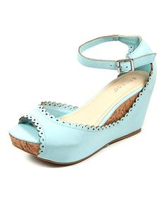 Look at this Sky Ankle-Strap Renata Wedge on #zulily today!