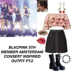 338 Likes, 20 Comments - Blackpink🌸 Korean Outfits Kpop, Kpop Fashion Outfits, Stage Outfits, Korean Dress, Pink Fashion, Ideias Fashion, Cute Outfits, Style Inspiration, Clothes For Women