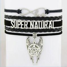 Jewelry - Supernatural Angel Wings Pentagram Bracelet