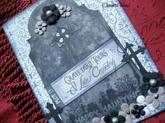 Gothic Halloween Greeting Card  Graveyard Tour by ImmortalVisions, $6.50