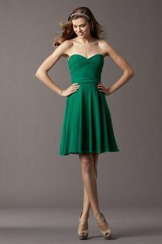 Watters Bridesmaid Dresses - Style Cedar 4518 #emerald #bridesmaid #dresses