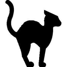 halloween cat outline cat silhouette clip art projects to try rh pinterest ie halloween cat clip art free halloween cat clip art free