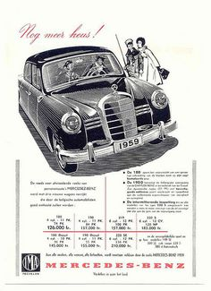 Mercedes-Benz Ponton Ad 1959 | Flickr - Photo Sharing!