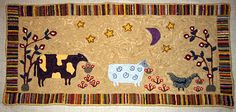 Rug Hooking Kits, Designs and Patterns. Rug Hooking Kits, Rug Hooking Designs, Blue Tulips, Sheep, How To Draw Hands, Texture, Wool, Patterns, Rugs