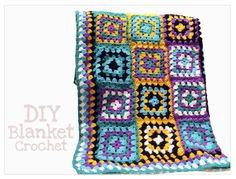 Manta/ blanket Modern Crochet, Afghan Blanket, Household Items, Knit Crochet, Diy, Stripes, Crafty, Quilts, Stitch