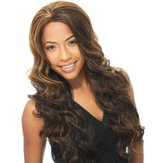 Synthetic Lace Front Wig FreeTress Equal Baby Hair Line Suri Color P1B/33 by Milky Way. $24.99