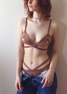 6418f93f1d844 Natalie Strappy Demi High Waist Panty in Rose Petal BACK IN STOCK Elegant  Lingerie