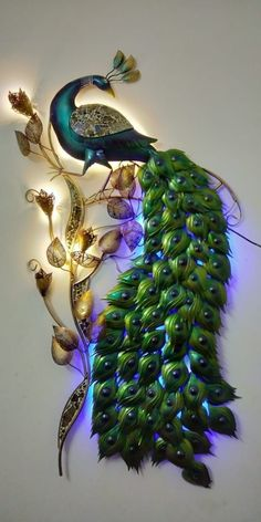 Discover thousands of images about Handicrafts – NH Global Peacock Wall Art, Peacock Painting, Peacock Decor, Peacock Design, Peacock Bedroom, Peacock Crafts, Peacock Wallpaper, Damask Wallpaper, Glass Painting Designs