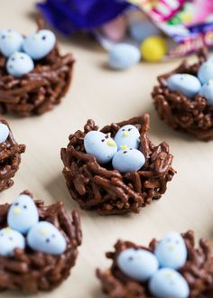 Chocolate Egg Nest Treats – made with chocolate, butterscotch and mini Cadbury eggs. An adorable treat for Easter and Spring! These are no-bake and this recipe only take minutes to make!