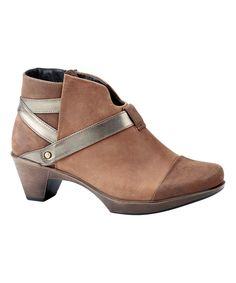 This Saddle Brown Modern Leather Bootie by NAOT is perfect! #zulilyfinds