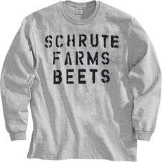 Commemorate your favorite cult classic with an awesome The Office Schrute Farms Beets Heather Gray Adult Long Sleeve Shirt . Free shipping on The Office orders over $50.