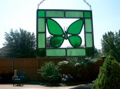 Stained glass Butterfly suncatcher . Specify by paulaldred1, $25.00