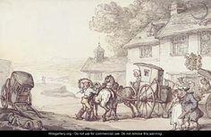 Journeying from a coastal inn    by Thomas Rowlandson