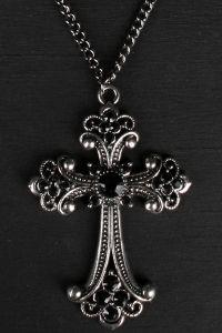 Gothic Halskette mit hübschem Kreuz Anhänger