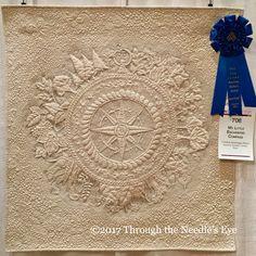 First Place: Wall Quilts – 1st Entry in an AQS Lancaster Quilt Contest MY LITTLE ENCHANTED COMPASS, Cristina Arcenegui Bono, Alcalá de Guadaíra, Sevilla, Spain 2017