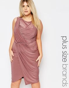 Boohoo+Plus+Occasion+Wrap+Dress
