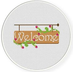 FREE for June 8th 2014 Only - Welcome Cross Stitch Pattern