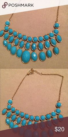 Gorgeous turquoise statement necklace From Loft, so pretty! Jewelry Necklaces